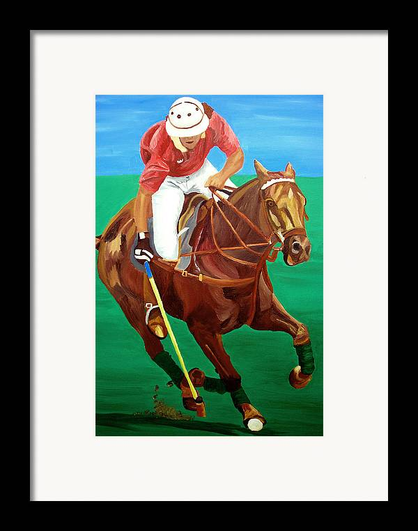 Polo Framed Print featuring the painting Chukar by Michael Lee