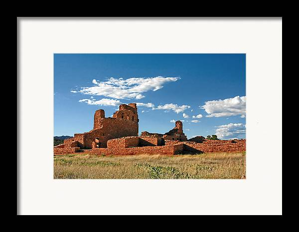 Church Framed Print featuring the photograph Church Abo - Salinas Pueblo Missions Ruins - New Mexico - National Monument by Christine Till