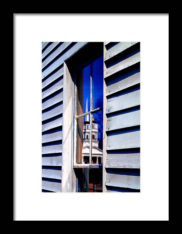 Framed Print featuring the photograph Church And State by Daniel Thompson