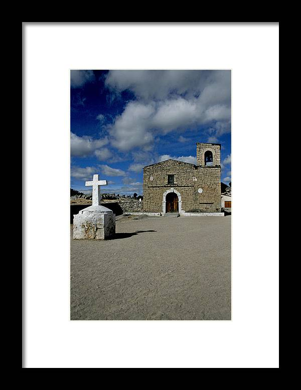Church Framed Print featuring the photograph Church Below Sky by Carmen Sandoval