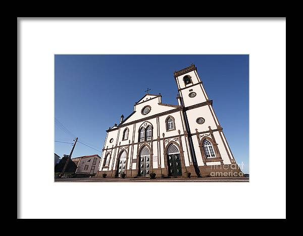 Santo Antonio Nordestinho Framed Print featuring the photograph Church In Azores Islands by Gaspar Avila