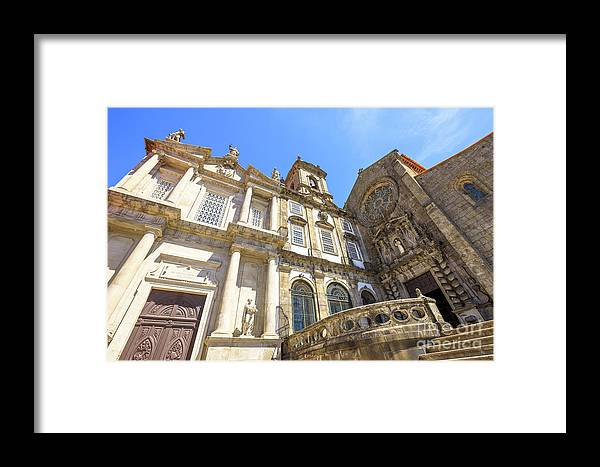 Porto Framed Print featuring the photograph Church In Riberira Porto by Benny Marty