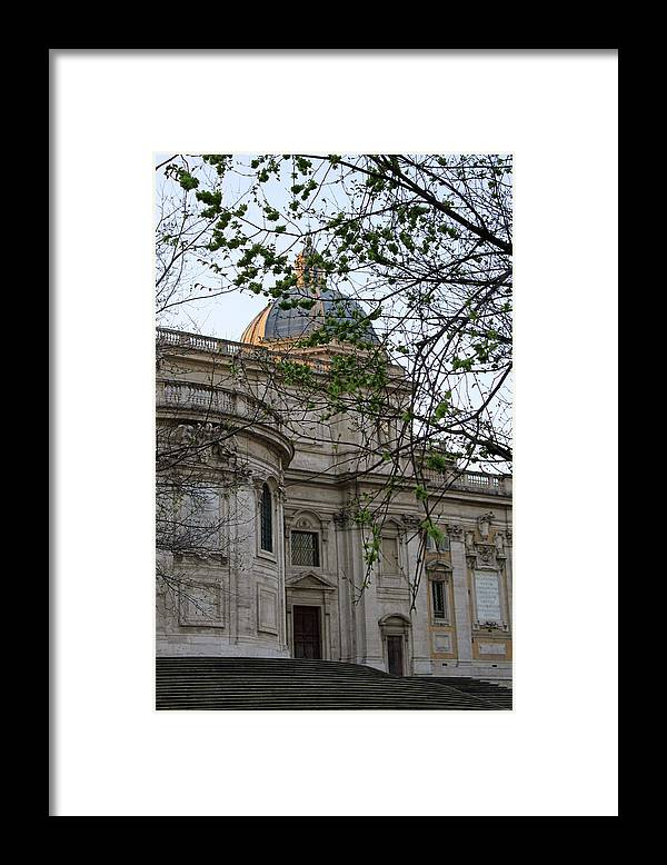 Rome Framed Print featuring the photograph Church in Rome by Munir Alawi