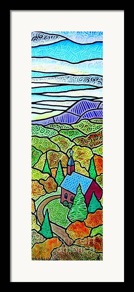 Church Framed Print featuring the painting Church In The Wildwood by Jim Harris