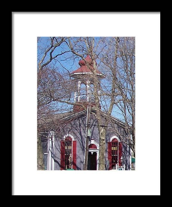 Church Framed Print featuring the photograph Church In Woods by Pharris Art