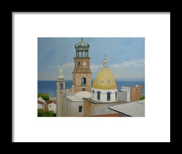 Mexico Framed Print featuring the painting Church Of Gaudalupe by Robert Rohrich