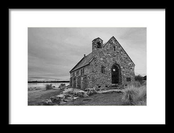 Landscape Framed Print featuring the photograph Church Of The Good Shepherd by Andrea Cadwallader