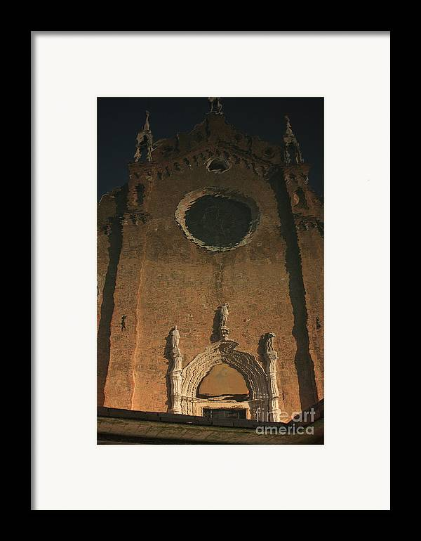 Venice Framed Print featuring the photograph Church Reflected In Canal In Venice by Michael Henderson