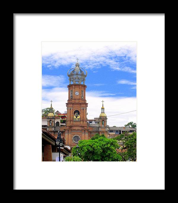 Church Framed Print featuring the photograph Church Steeples In Puerto Vallarta by Glenn Aker