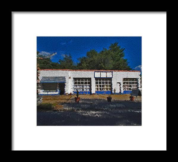 Churton Avenue Framed Print featuring the photograph Churton St Blue by David A Brown