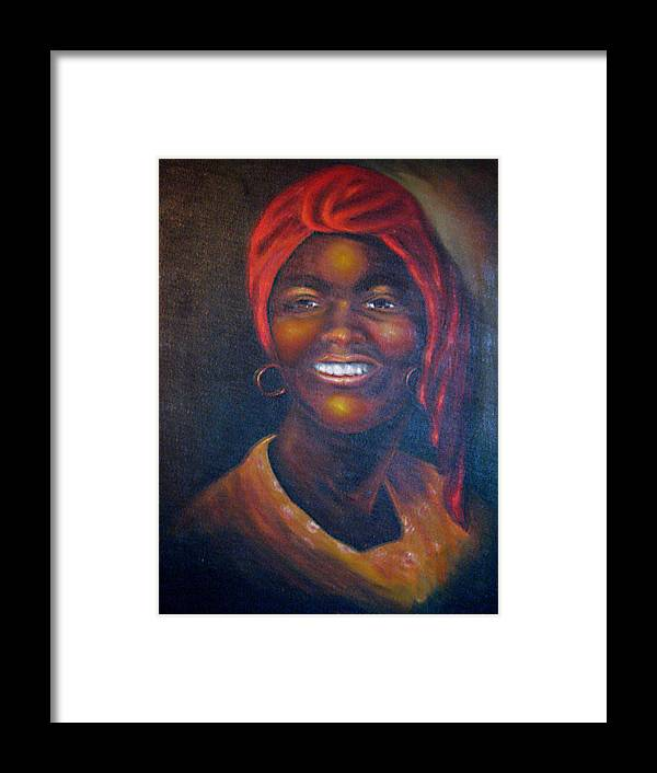 Black Women Framed Print featuring the painting Cicely Tyson by Irene Schilling