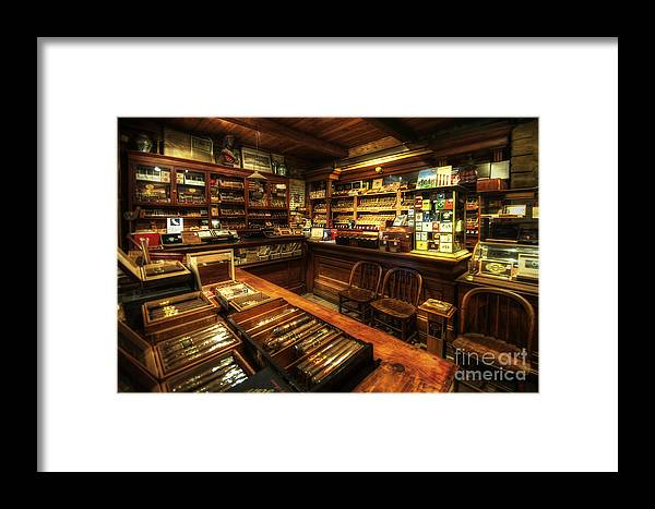 Art Framed Print featuring the photograph Cigar Shop by Yhun Suarez