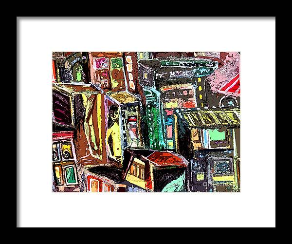 Digital Art Framed Print featuring the painting Cin City 2 by Mindy Newman