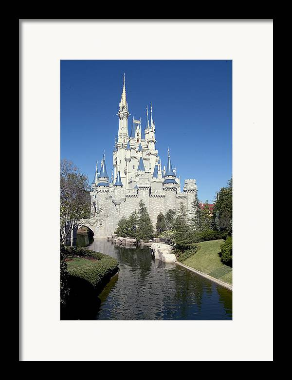 Cinderella Castle Framed Print featuring the photograph Cinderella Castle Reflections by Charles Ridgway
