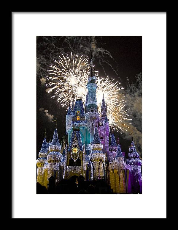 Cinderella Castle Framed Print featuring the photograph Cinderella Castle Spectacular by Charles Ridgway