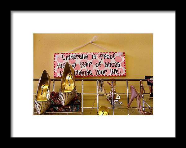Shoes Framed Print featuring the photograph Cinderella Is Proof by Heather S Huston