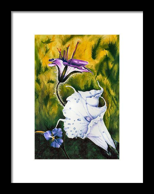 Lily Framed Print featuring the print Cindy's Lily by JoLyn Holladay