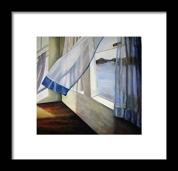 Landscape Framed Print featuring the painting Cindy's Window by Eileen Kasprick