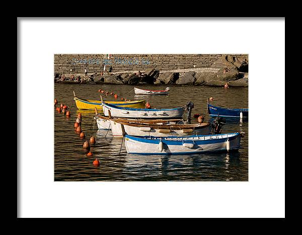 Italy Framed Print featuring the photograph Cinque Terre by Carl Jackson