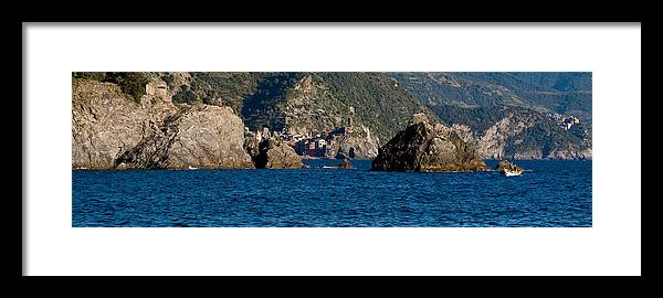 Boat Framed Print featuring the photograph Cinque Terre Coast by Carl Jackson