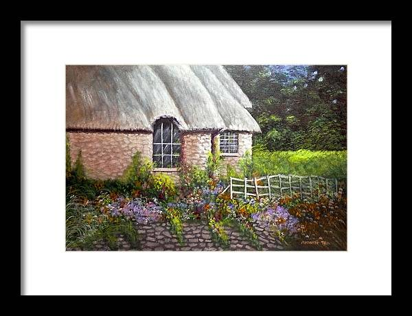Landscape Framed Print featuring the painting Ciotswold by Annette Tan