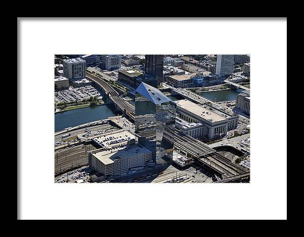 Cira Framed Print featuring the photograph Cira Centre And Amtrak Garage 30th And Arch Streets Philadelphia Pa 19104 by Duncan Pearson