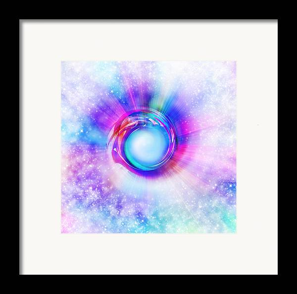 Space Framed Print featuring the painting Circle Eye by Setsiri Silapasuwanchai