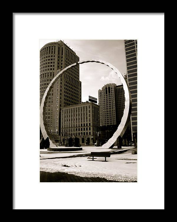 Detroit Framed Print featuring the photograph Circle Of Labor by Sonja Anderson