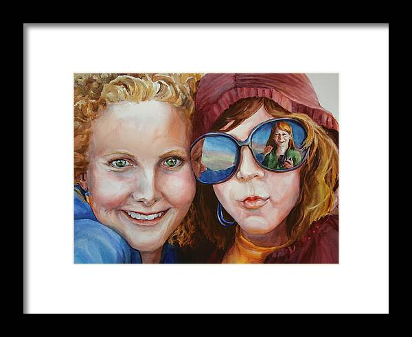 Portrait Framed Print featuring the painting Circle Of Sisters by Carolyn Epperly