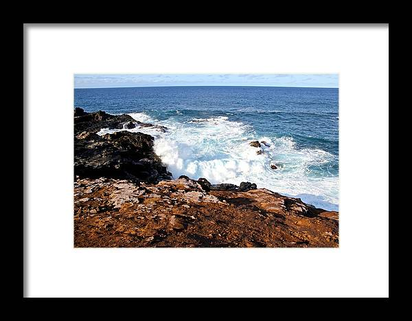 Waves Framed Print featuring the photograph Circle Of Waves by Kimberly Reeves