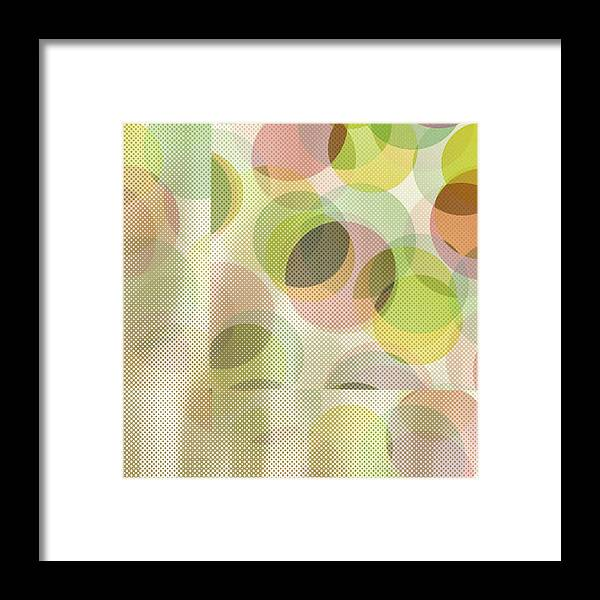 Abstract Framed Print featuring the digital art Circle Pattern Overlay by Ruth Palmer