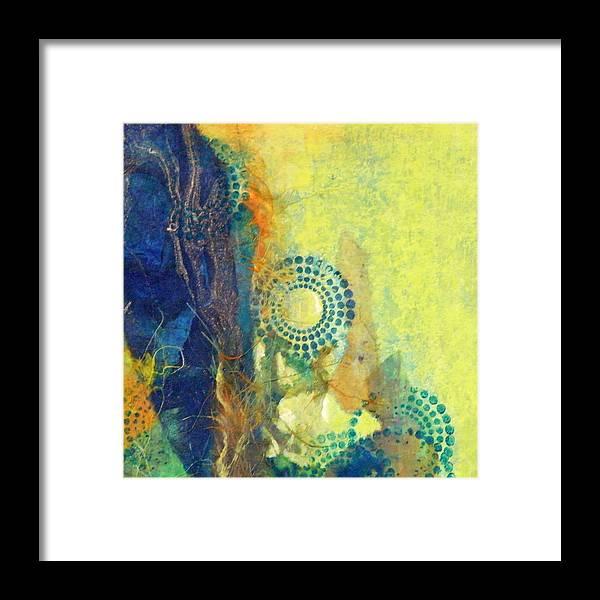 Mixed Media Framed Print featuring the painting Circles 1 by Tara Milliken