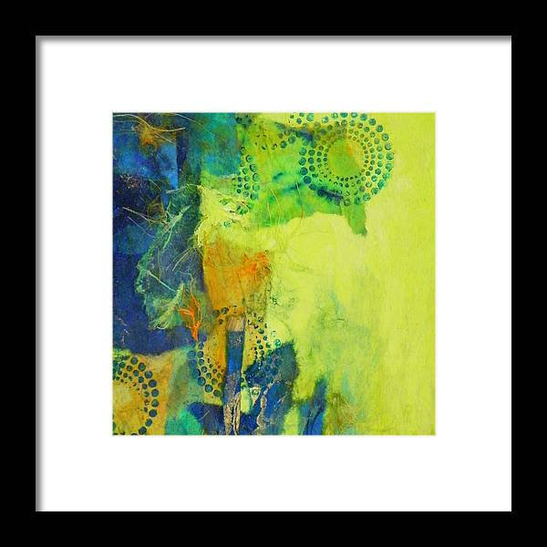 Mixed Media Framed Print featuring the painting Circles 2 by Tara Milliken