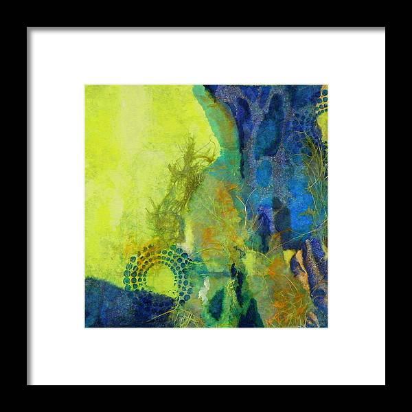 Mixed Media Framed Print featuring the painting Circles 3 by Tara Milliken