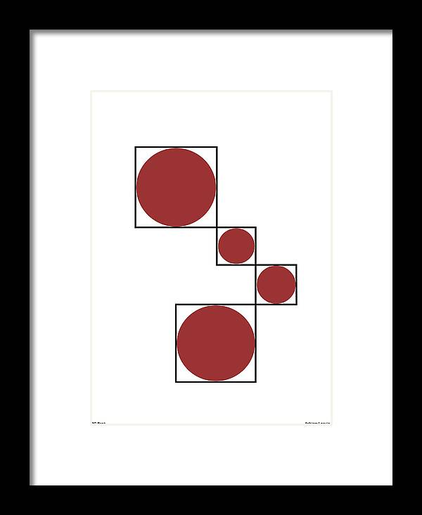 Circles Framed Print featuring the digital art Circles by Asbjorn Lonvig