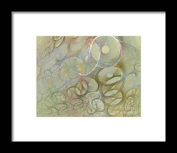 Fractal Framed Print featuring the digital art Circles In Circles by Deborah Benoit