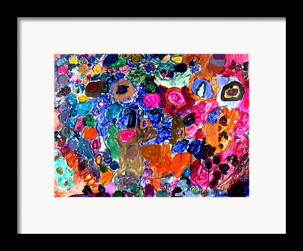 Circles Framed Print featuring the painting Circles by Janice Michaud
