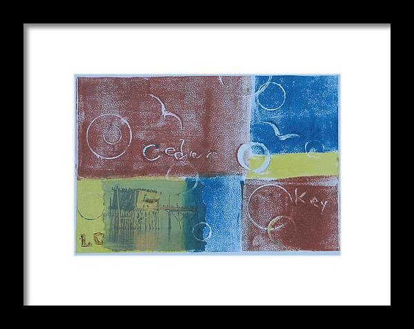 Printmaking Framed Print featuring the painting Circling The Key by Libby Cagle