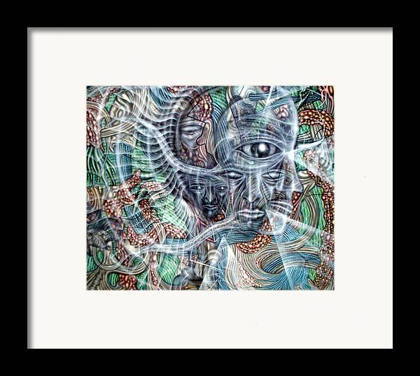 Surreal Framed Print featuring the painting Circuitry II by Leigh Odom