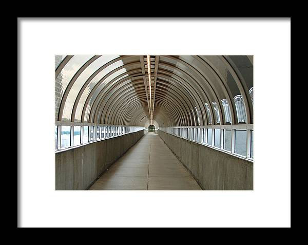 Tunnels Framed Print featuring the photograph Circular Tunnel by Cheryl Viar