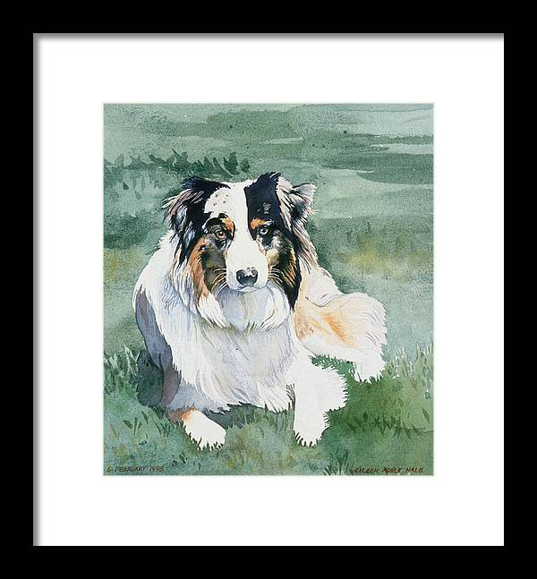 Portrait Framed Print featuring the painting Cisco by Eileen Hale