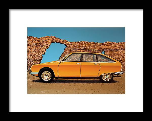 Citroen Gs Framed Print featuring the painting Citroen Gs 1970 Painting by Paul Meijering