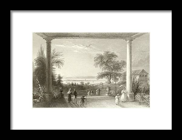 View Framed Print featuring the drawing City And Lake Of Constance From The Chateau Wolfsberg by William Henry Bartlett