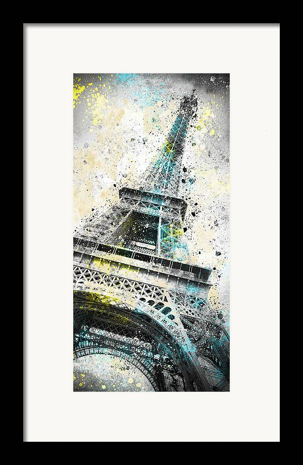 Europe Framed Print featuring the photograph City-art Paris Eiffel Tower Iv by Melanie Viola