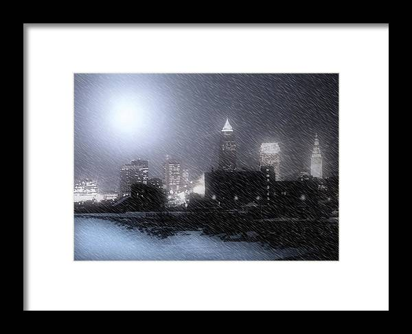 Cleveland Framed Print featuring the photograph City Bathed In Winter by Kenneth Krolikowski