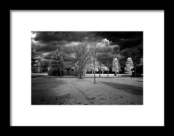 Infrared Framed Print featuring the photograph City Beach In Infrared by Lee Santa