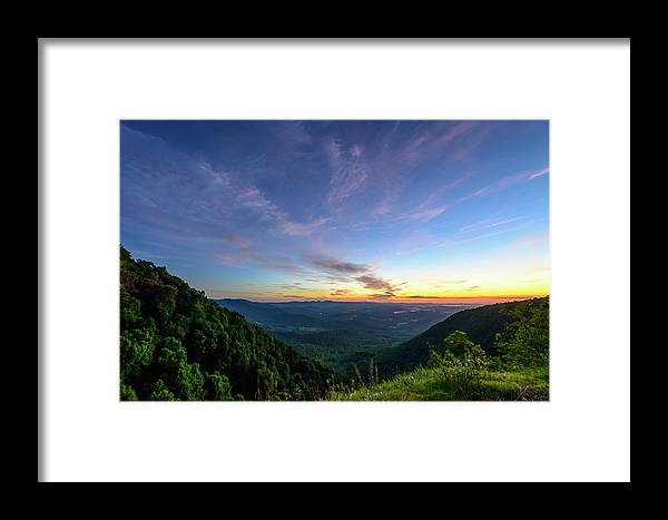 Appalachian Trail Framed Print featuring the photograph City Below The Mountains by Michael Scott
