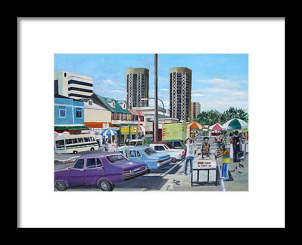 Car Framed Print featuring the painting City Capital P.o.s by Albert Stanislaus