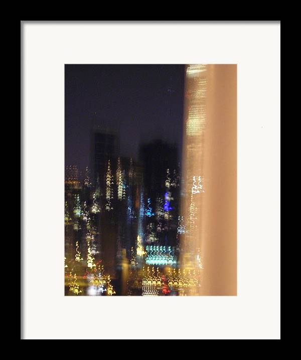 City Framed Print featuring the photograph City Flames by Peter Mowry