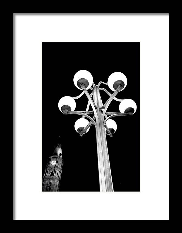 Cira Building Framed Print featuring the photograph City Hall Lamp by Andrew Dinh